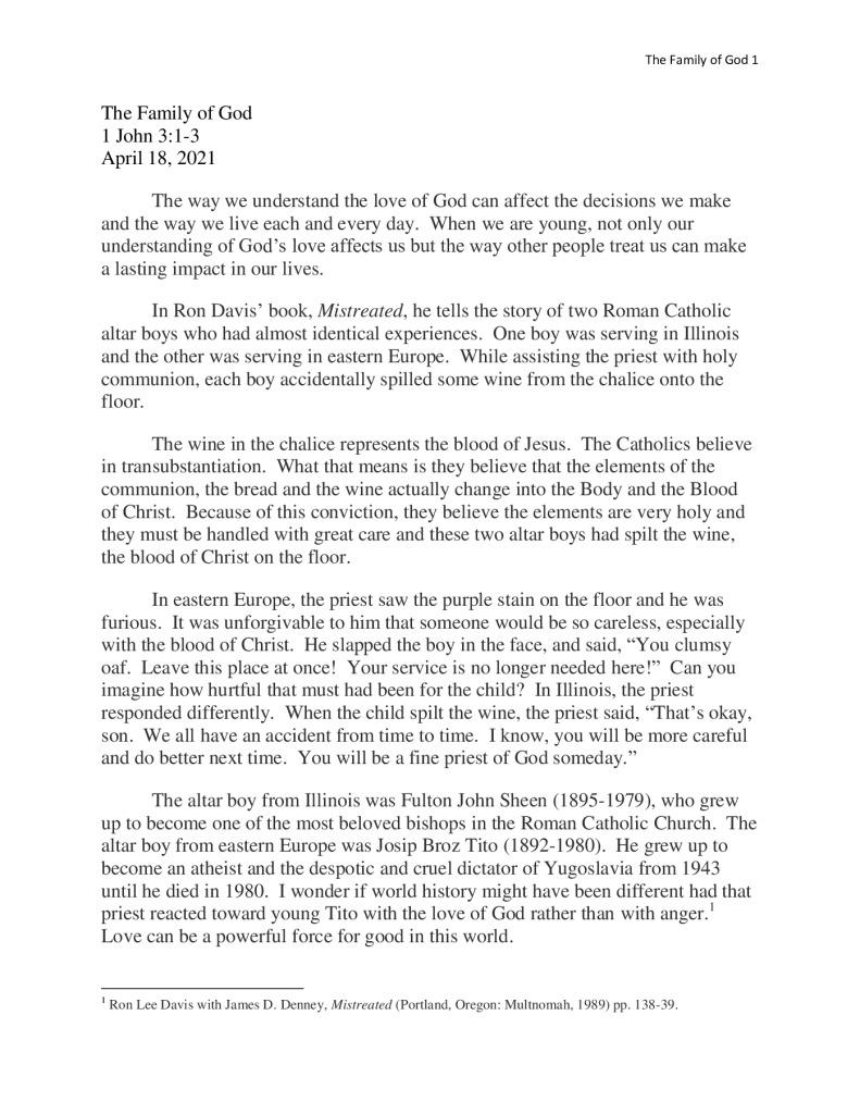 thumbnail of Family of God 4-18
