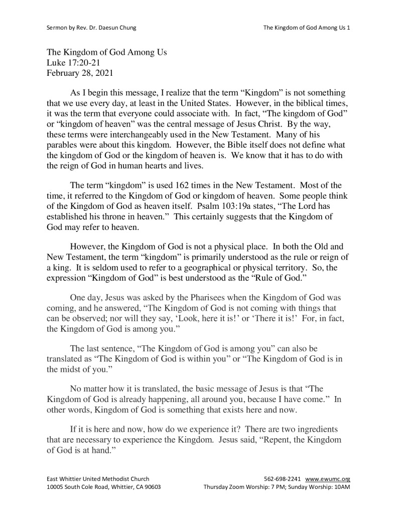 thumbnail of The Kingdom of God Among Us 2-28